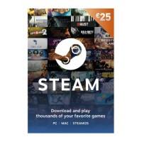 Valve Steam 25 Euro Prepaid Card Προπληρωμένη Κάρτα